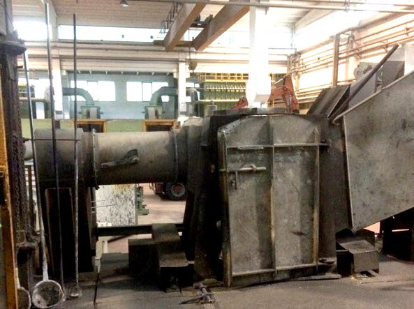 Il forno della fonderia Bozzoli di Marcheno (Foto Cavicchi)