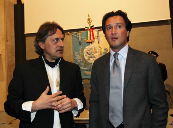 Andrea Brunello (a destra) con Maurizio Bernardelli Curuz