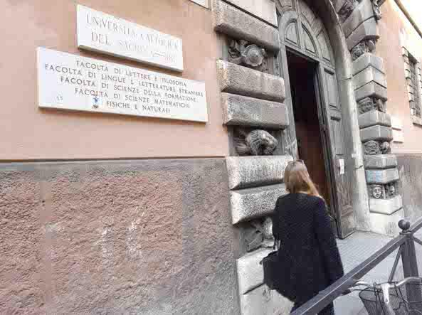 La sede dell'Università  Cattolica a Brescia  (Cavicchi/Lapresse)