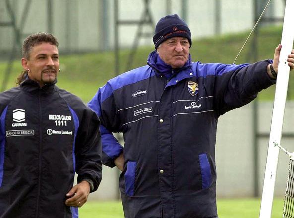 Baggio e Mazzone a Brescia
