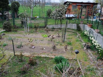 Un orto nella zona contaminata dai Pcb (Campanelli/Lapresse)