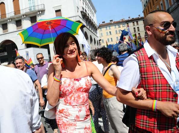 Vladimir Luxuria, madrina del Pride bresciano (Campanelli/Lapresse)