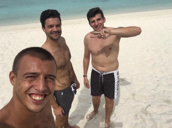 Filippo, Jordan e Federico (Foto Facebook)