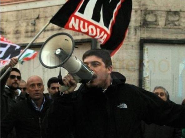 Luca Castellini, tifoso del Verona, presidente del Villanella e esponente di Forza Nuova
