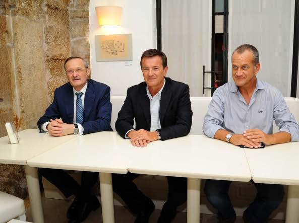 Luigi Morgano, Giorgio Gori  e Gian Antonio Girelli (Lapresse)