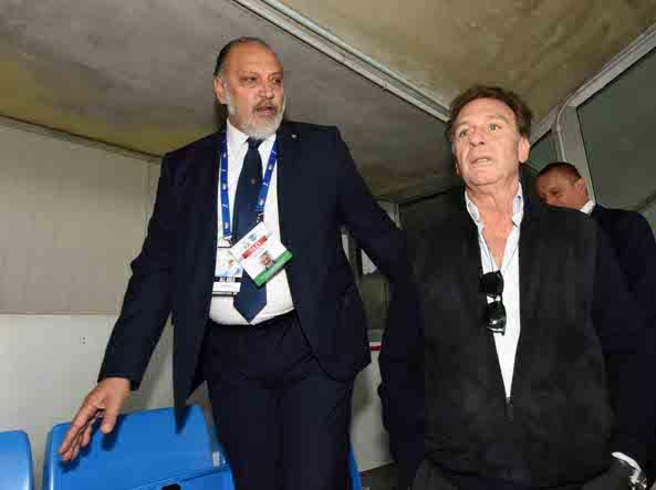 Massimo Cellino, nuovo proprietario del Brescia, è al suo esordio al Rigamonti (Cavicchi/Lapresse)