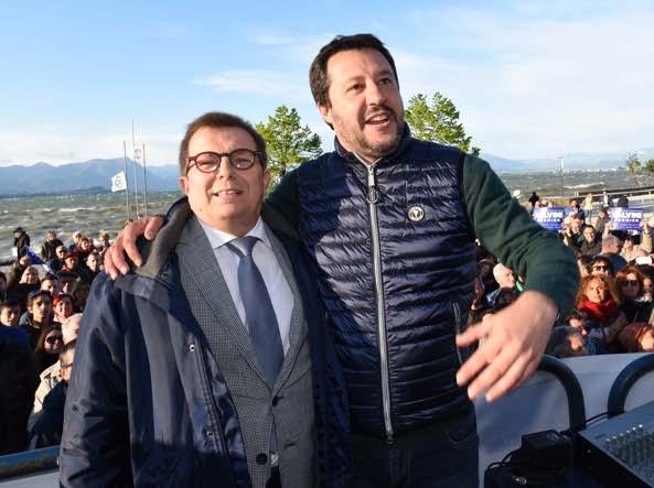 Malinverno e Salvini (LaPresse)