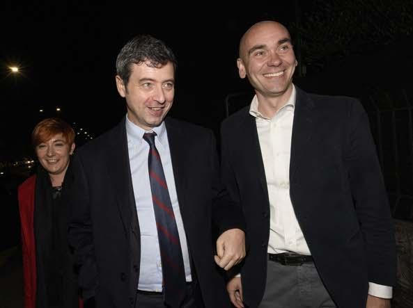 Il Ministro Andrea Orlando alla sede del PD di Brescia (Cavicchi/LaPresse)