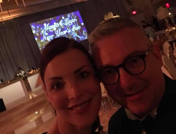 Cervati con la moglie Paola (foto Facebook)