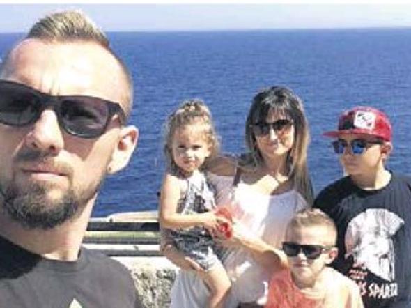 Una delle ultime foto della famiglia Kornatowski