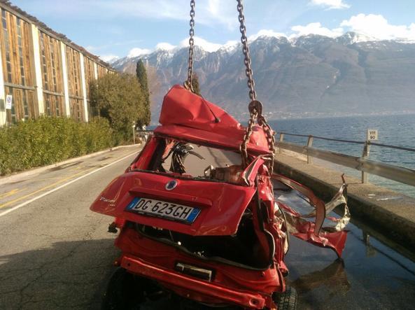L'auto di Pietro Giordani ripescata nel Garda